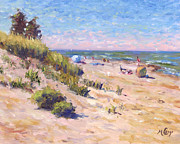 Grass Painting Originals - On the Beach by Michael Camp