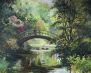 Impressionistic Landscape Paintings - On the bridge by Tigran Ghulyan