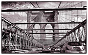 Brooklyn Bridge Prints - On the Brooklyn Bridge Print by Madeline Ellis