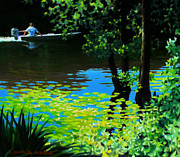 4th July Painting Originals - On the Calcasieu by Kevin Lawrence Leveque