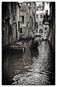Gondolier Prints - On the Canal - Venice Print by Madeline Ellis