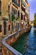Europe Digital Art Prints - On the Canal-Venice Print by Tom Prendergast