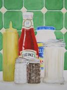 Ketchup Paintings - On the Counter by Sue Ann Glenn