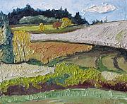 Francois Fournier Paintings - On The Country  Side Quebec Canada by Francois Fournier