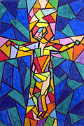 Cross Painting Originals - On The Cross by Matthew Doronila