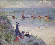 Seashore Art - On the Dunes by Theo van Rysselberghe