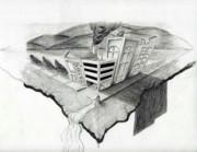 On The Edge Print by Sean Keir Walburn