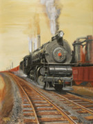 Skylines Painting Originals - On the Great Steel Road by Christopher Jenkins