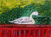 Goose Drawings - On the Highboy by John  Williams