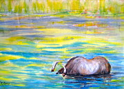 Buffalo River Paintings - On the Li River by Myra Evans