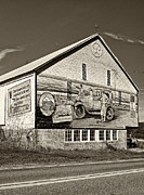 T Travel Prints - On the Lincoln Highway sepia Print by Steve Harrington