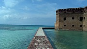 Dry Tortugas Prints - On the Moat Wall 1 Print by Stefanie G Reay