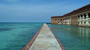 Dry Tortugas Prints - On the Moat Wall 2 Print by Stefanie G Reay