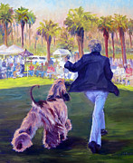 Afghan Hound Paintings - On The Move by Terry  Chacon
