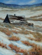Winter Paintings - On the Old Whirl Ranch by Debra Mickelson