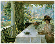 Fine American Art Posters - On the Porch Poster by William Chadwick