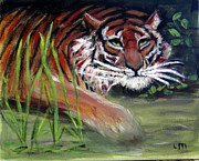 The Tiger Paintings - On The Prowl by Lia  Marsman