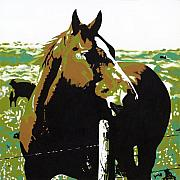Pop Art Originals - On the Range - Brown by Sonja Olson