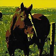Pop  Paintings - On the Range - Red by Sonja Olson