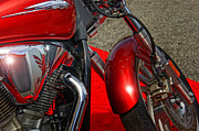 Honda Motorcycles Prints - On The Red Carpet Print by Marilyn Atwell