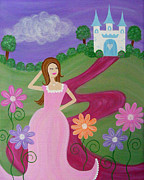 Princess Prints - On the Red Carpet Print by Samantha Shirley