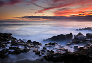 Tides Photo Prints - On the Red Rocks Print by Mike  Dawson
