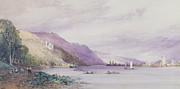 On The Hill Prints - On the Rhine Print by William Callow