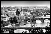 Charles Bridge Prints - On the River Print by Jason Wolters