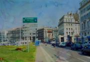 Hotel Marseilles Prints - On The Road To Aix Print by Paulette Wright