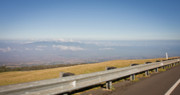 Scenic Drive Prints - On the Road to Maui Haleakala Summit Print by Denis Dore