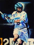 Lacrosse Paintings - On The Run by Kenneth DelGatto