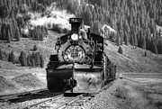 Steam And More Photography Framed Prints - On the Siding Black and White Framed Print by Ken Smith