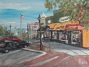 Americana Paintings - On The Square by Pete Maier