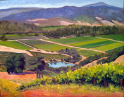 Sonoma County Vineyards. Prints - On the Top Print by Char Wood