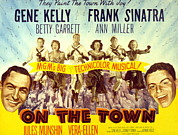 Sinatra Art Posters - On The Town, Gene Kelly, Frank Sinatra Poster by Everett