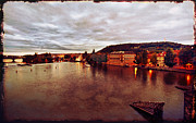 Vltava River Boat Prints - On the Vltava River Print by Madeline Ellis