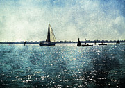 Sail Boats Posters - On The Water 4 - Venice  Poster by Madeline Ellis