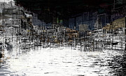 Urban Art Mixed Media Metal Prints - On the Waterfront Metal Print by Andy  Mercer