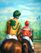 Racehorse Paintings - On to the Track by Thomas Allen Pauly