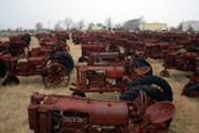 Old Tractors Photos - On Your Mark by Joy Tudor