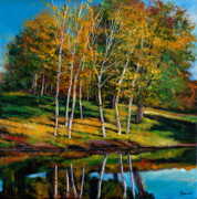 Lake Scene Paintings - Once in a Lifetime by Johnathan Harris