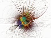 Apophysis Digital Art Prints - Once it flew... Print by Amanda Moore