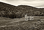 Fences Photos - Once Upon a Mountainside sepia by Steve Harrington