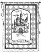 Pen Drawings Drawings Framed Prints - Once Upon a Time Framed Print by Adam Zebediah Joseph