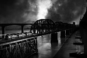 Benicia Bridge Photos - Once Upon A Time In The Story Book Town of Benicia California - 5D18849 - Black and White by Wingsdomain Art and Photography