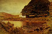 Abandoned House Prints - Once Upon a Time. Somewhere in Wicklow Mountains. Ireland Print by Jenny Rainbow