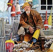 Fishermen Paintings - Once upon a time we were mariners by Richard T Pranke