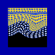 Op Art Digital Art Posters - One After Another Poster by Ann Powell