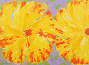 Contemporary Originals - One and a Half Flowers by Susan Rinehart