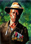 Soldier Painting Originals - One Armed Soldier by John Lautermilch